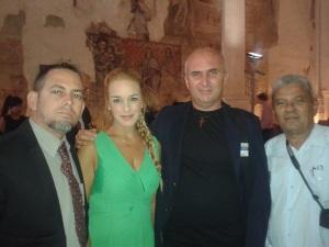 Desde la izquierda Mario Lleonart, Lilian Tintori, Francis Sánchez y Moises Leonardo Rodriguez